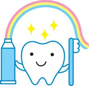 研磨剤入りの歯磨き粉でホワイトニングされた歯