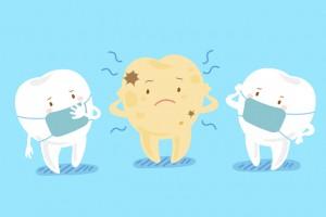 ホワイトニングで口臭を治そうとしている歯