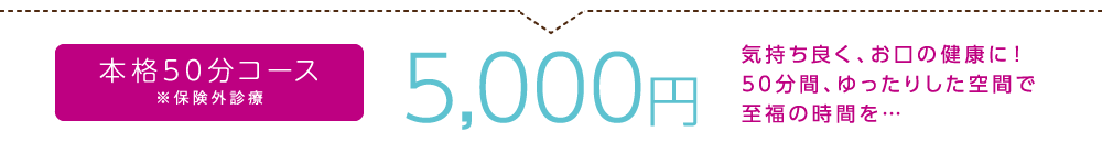 大阪でホワイトニング スマイリー歯科のティースエステ本格50分コース5,000円